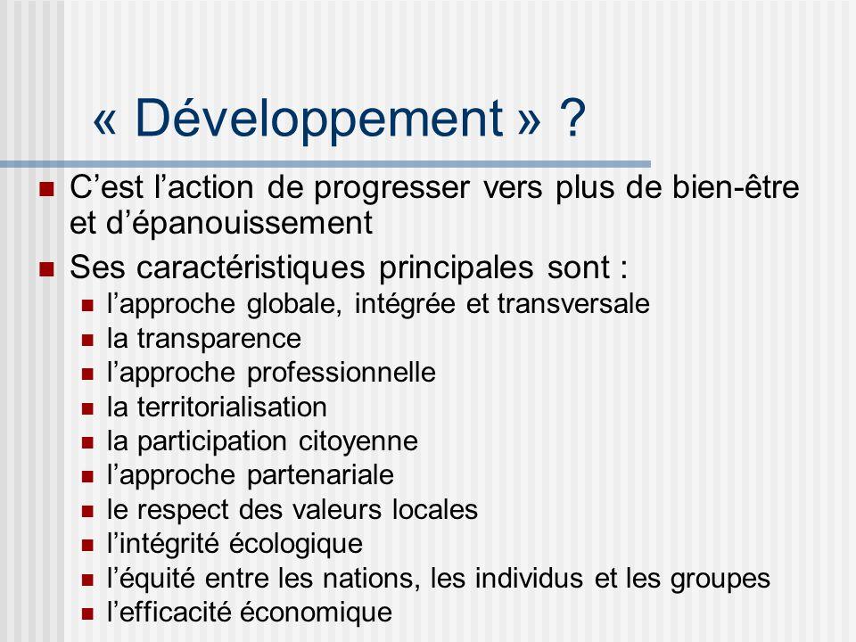 « Développement » .