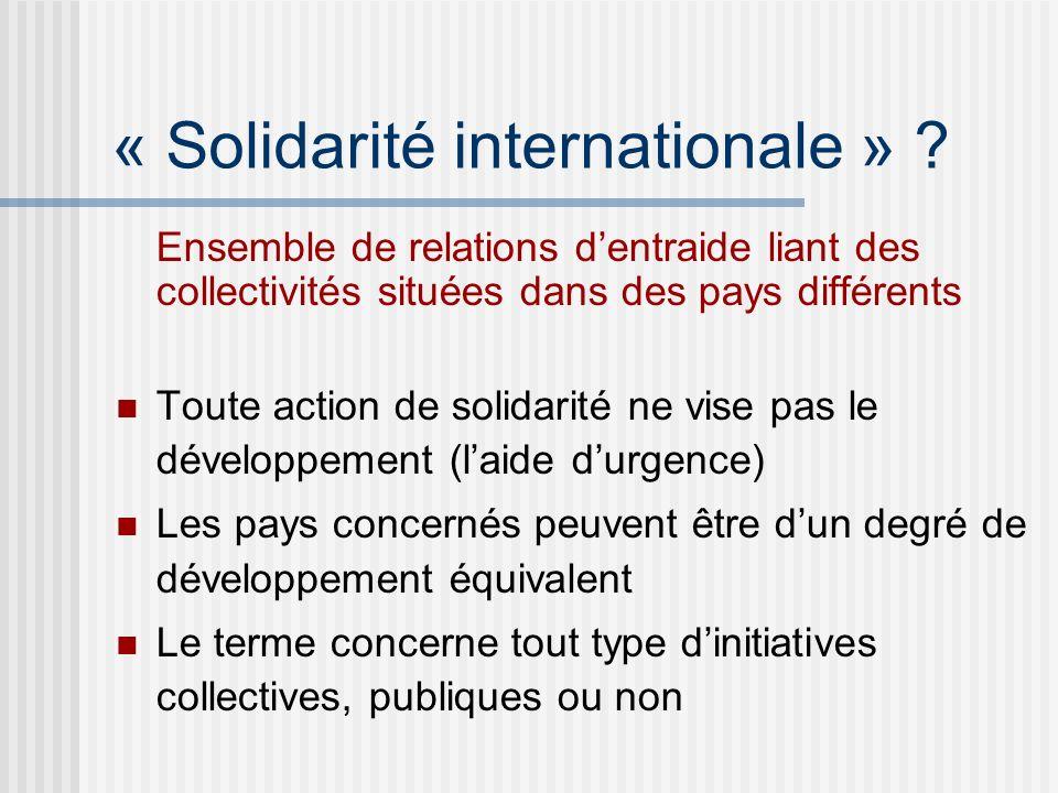 « Solidarité internationale » .