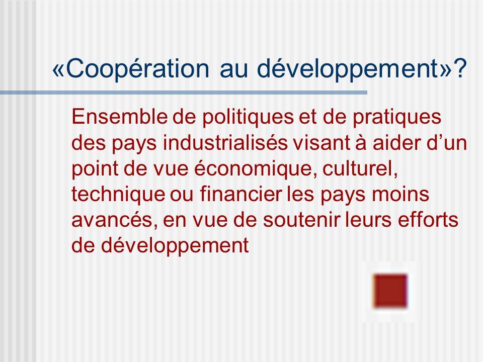 «Coopération au développement».
