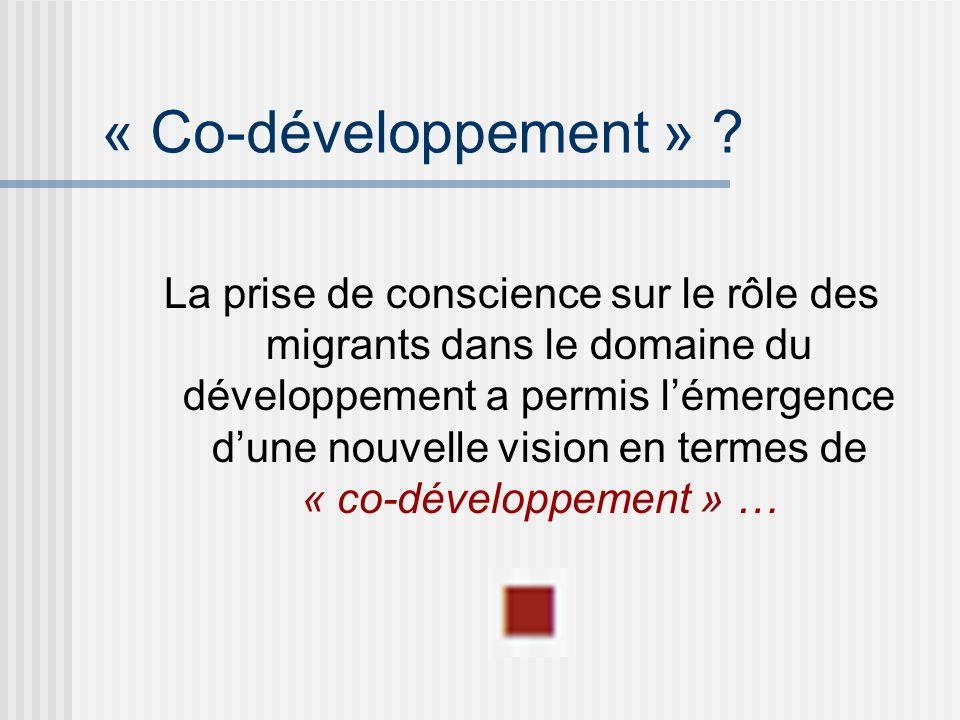 « Co-développement » .