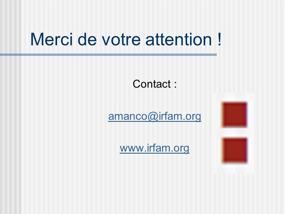 Merci de votre attention ! Contact : amanco@irfam.org www.irfam.org