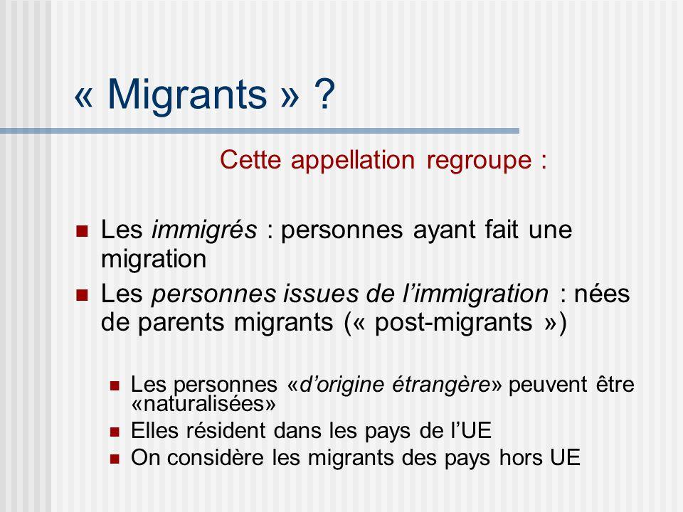 « Migrants » .