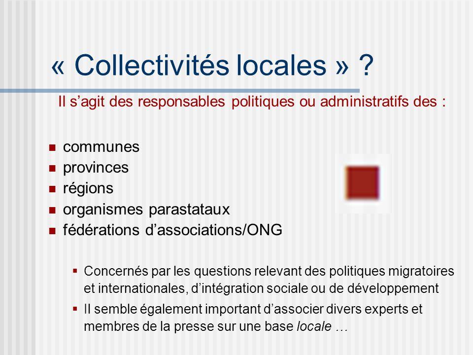« Collectivités locales » .