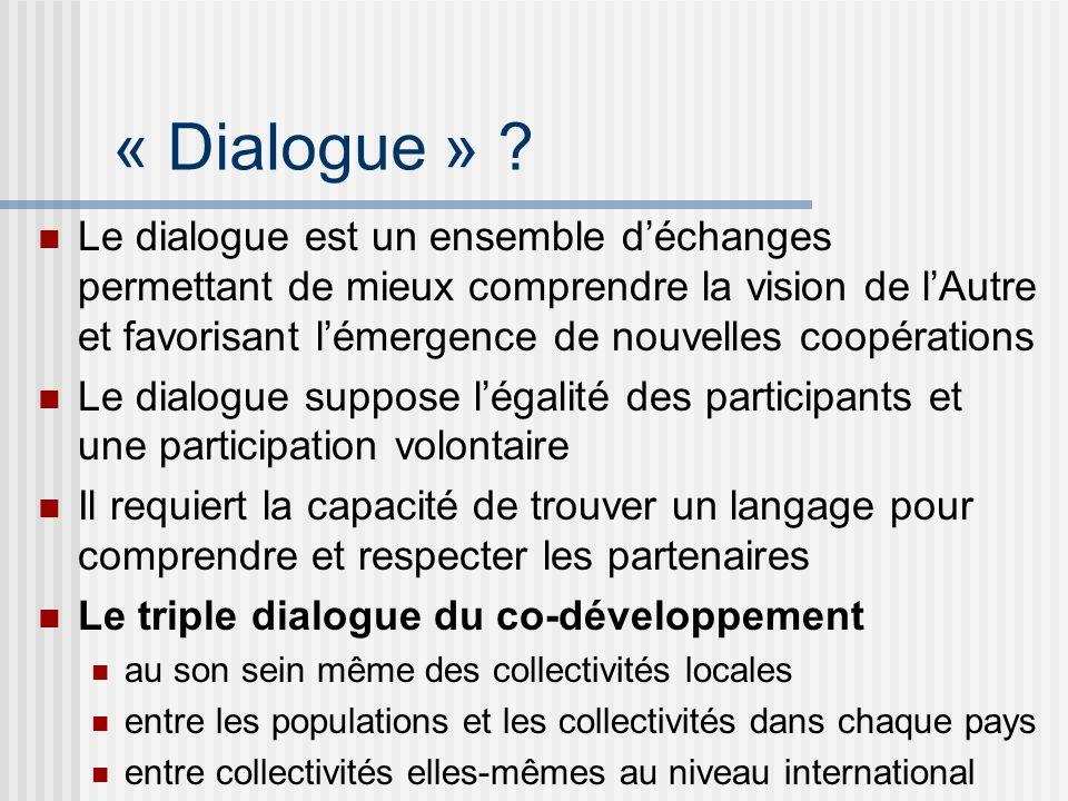 « Dialogue » .