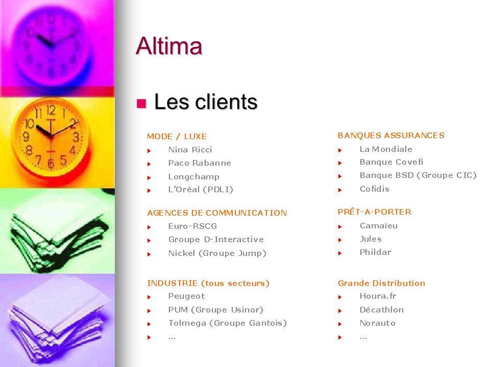 Altima Les clients Les clients
