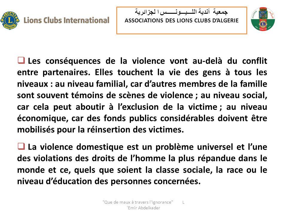 Les conséquences de la violence vont au-delà du conflit entre partenaires.