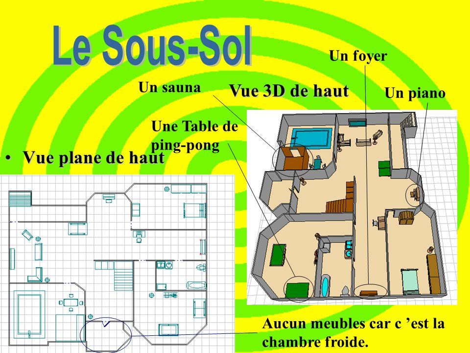 Le Sous-sol D ans notre sous-sol, nous avons six pièces et une sortie pour lextérieur. Les pièces sont: Une salle de bain, Une chambre dami, Une salle
