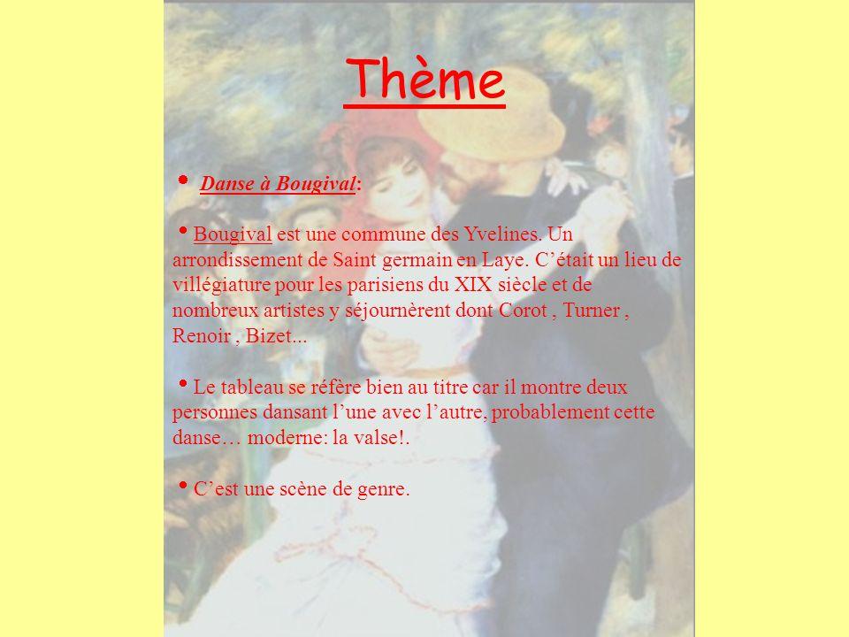 Thème Danse à Bougival: Bougival est une commune des Yvelines. Un arrondissement de Saint germain en Laye. Cétait un lieu de villégiature pour les par