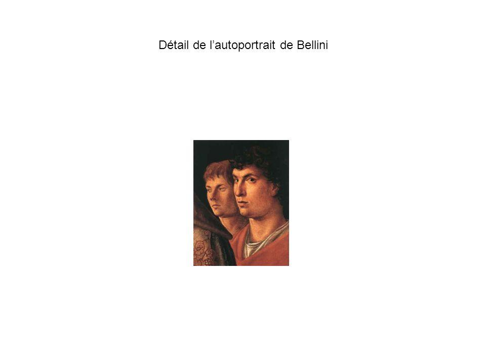 Détail de lautoportrait de Bellini