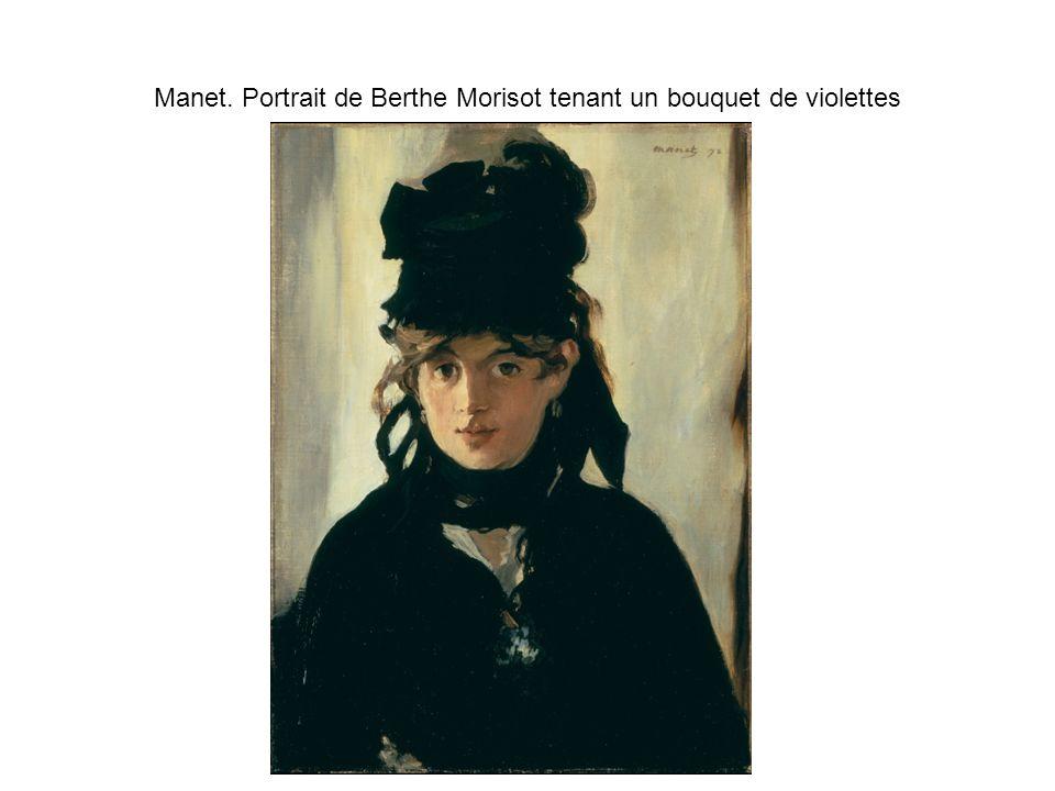 Manet. Portrait de Berthe Morisot tenant un bouquet de violettes