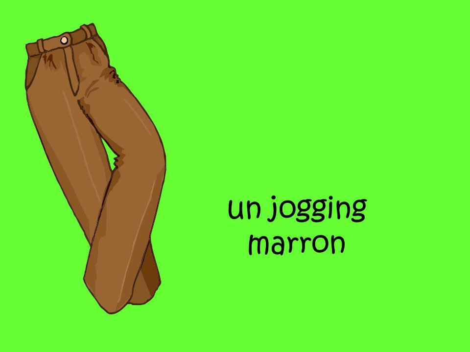 un jogging marron