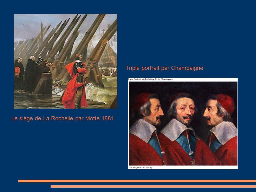 Le siège de La Rochelle par Motte 1881 Triple portrait par Champaigne
