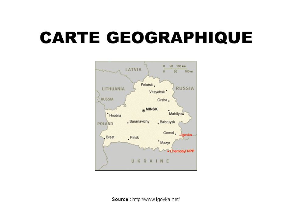 Source : http://www.igovka.net/ CARTE GEOGRAPHIQUE
