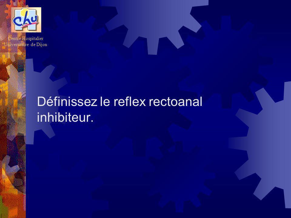 Définissez le reflex rectoanal inhibiteur. Centre Hospitalier Universitaire de Dijon