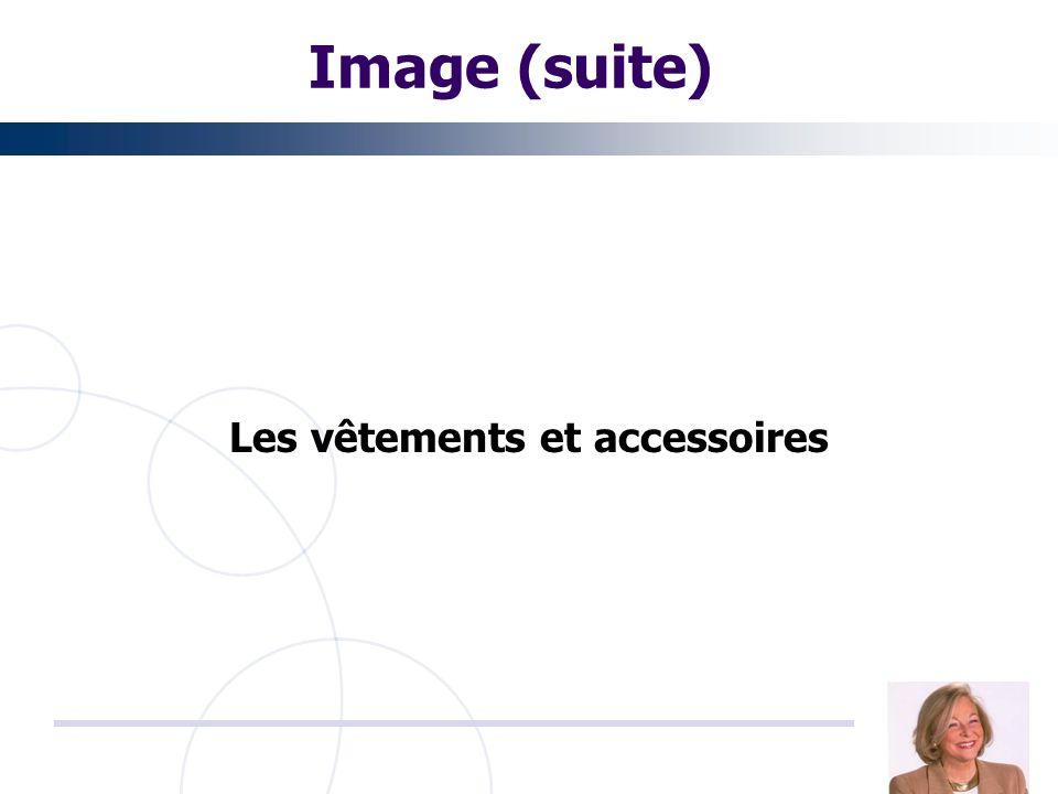 Image (suite) Les vêtements et accessoires