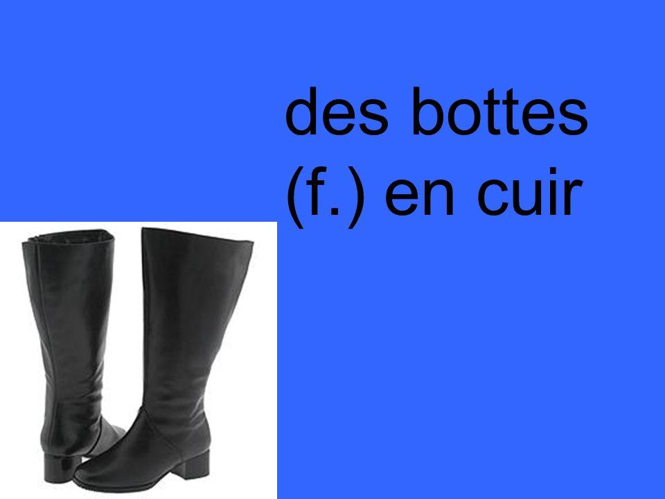 des bottes (f.) en cuir