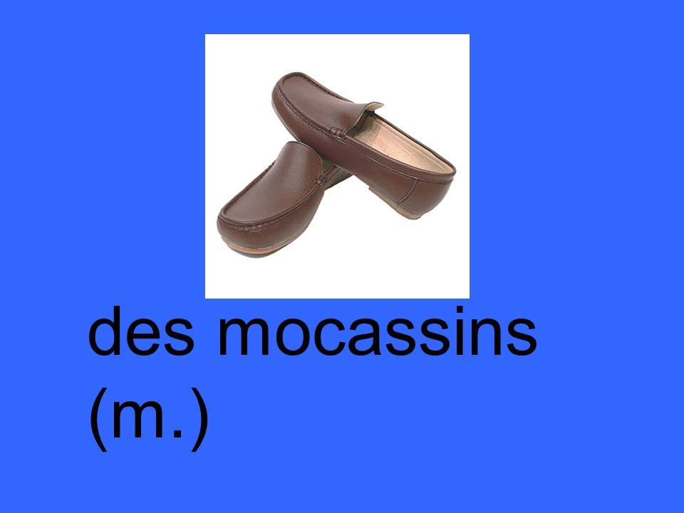 des mocassins (m.)