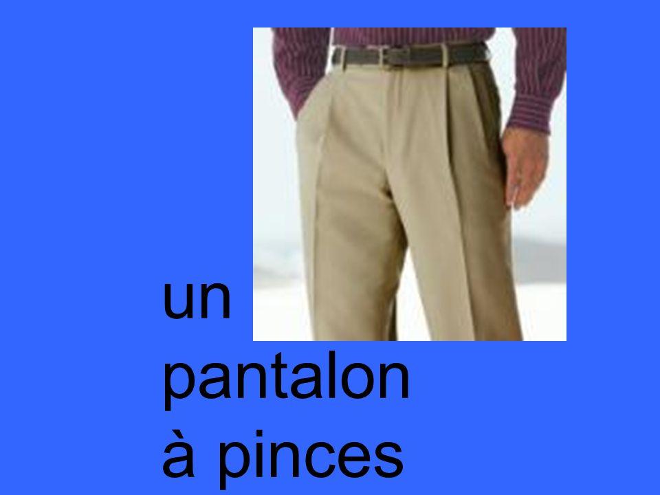 un pantalon à pinces