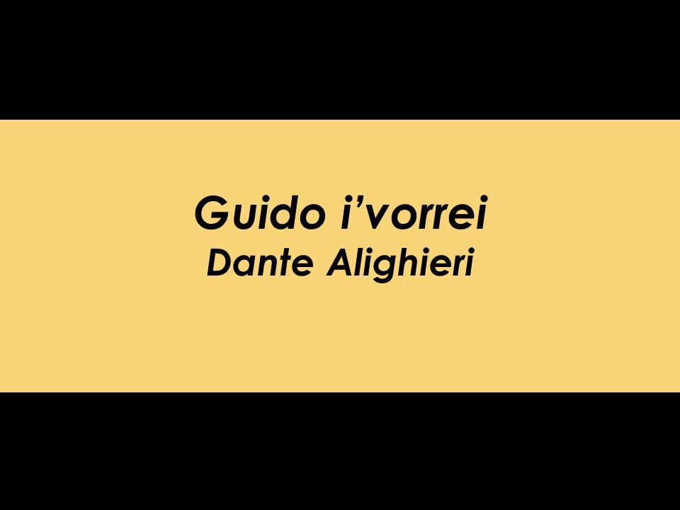 Guido ivorrei Dante Alighieri