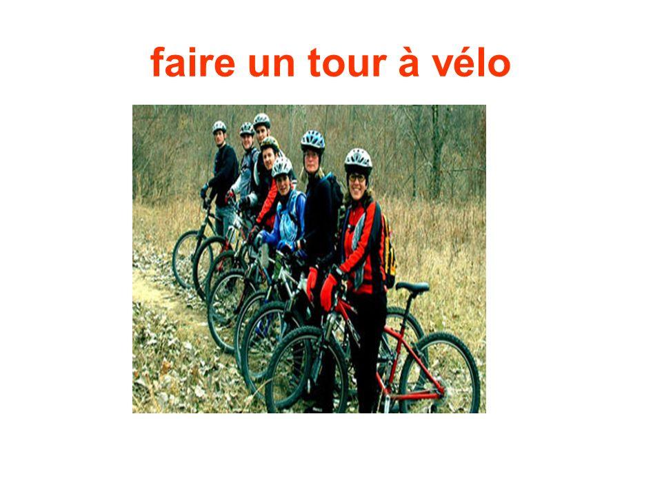 faire un tour à vélo