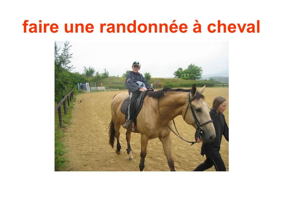 faire une randonnée à cheval