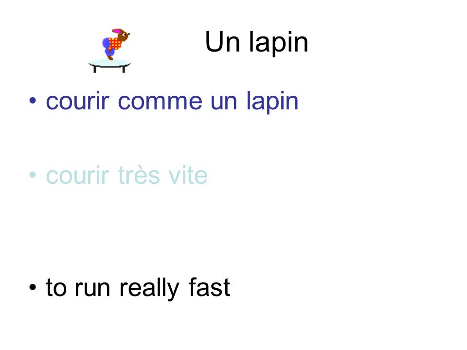 Un lapin courir comme un lapincourir comme un lapin courir très vite to run really fast