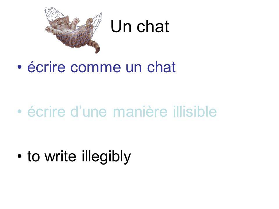 Un chat écrire comme un chatécrire comme un chat écrire dune manière illisible to write illegibly
