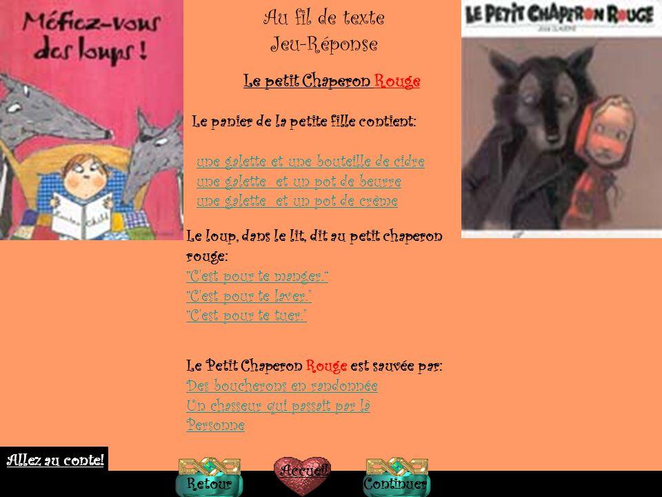 Petit Glossaire Chaperon=cappuccio (antico) Galette= biscotto secco Bûcheron=boscaiolo Dangereux=pericoloso Chemin=strada Bras=braccia Yeux=occhi (plu