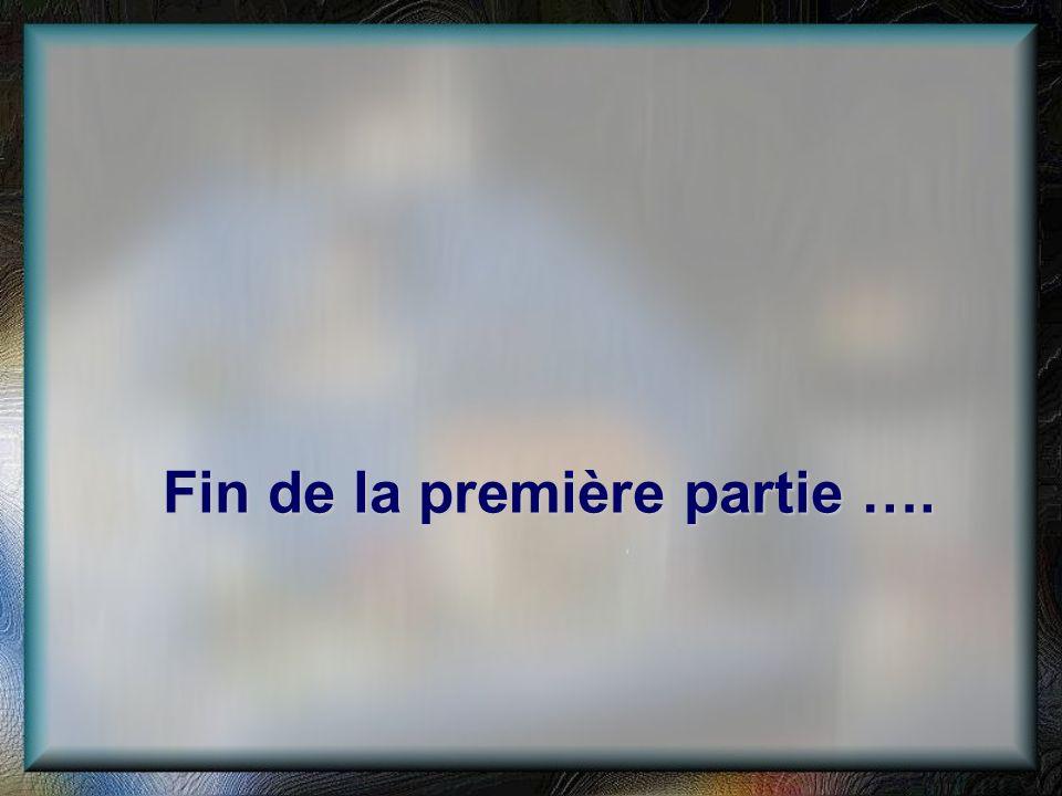 Fin de la première partie ….