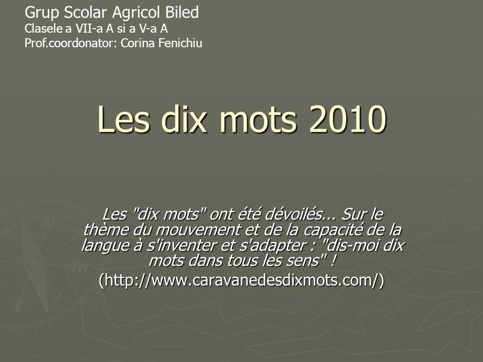 Les dix mots 2010 Les