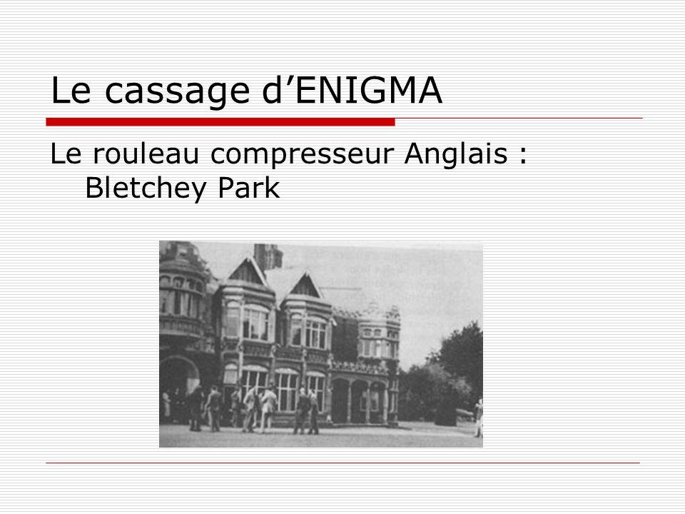 Le cassage dENIGMA Le rouleau compresseur Anglais : Bletchey Park