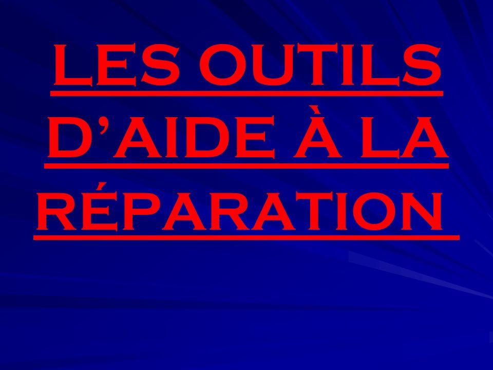 LES OUTILS DAIDE À LA RÉPARATION