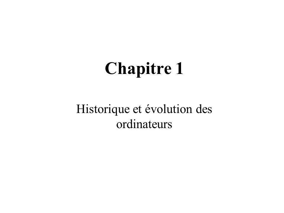 Chapitre 1 Historique et évolution des ordinateurs