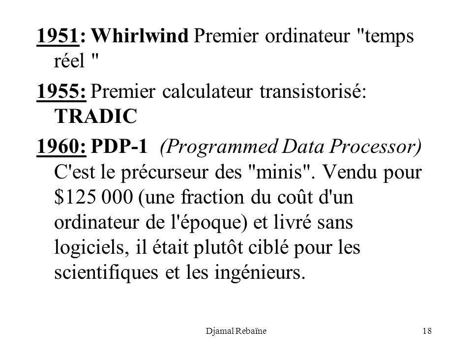 Djamal Rebaïne18 1951: Whirlwind Premier ordinateur