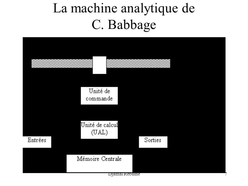 Djamal Rebaïne7 La machine analytique de C. Babbage