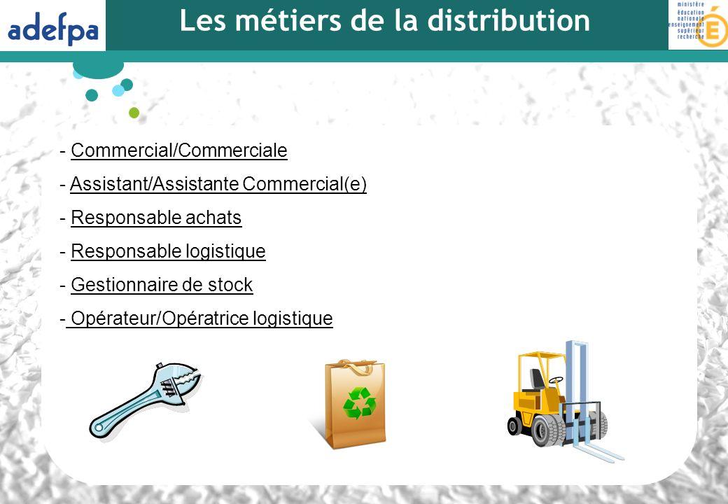 Les métiers de la distribution - Commercial/CommercialeCommercial/Commerciale - Assistant/Assistante Commercial(e)Assistant/Assistante Commercial(e) -