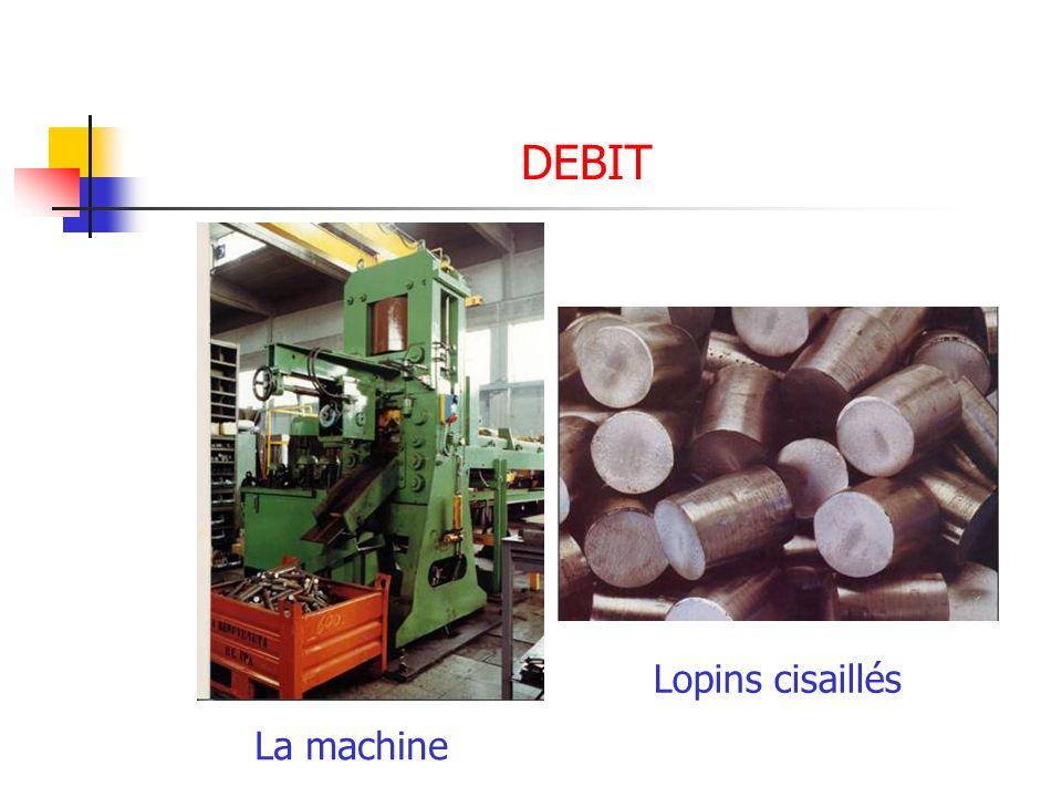 DEBIT La machine Lopins cisaillés