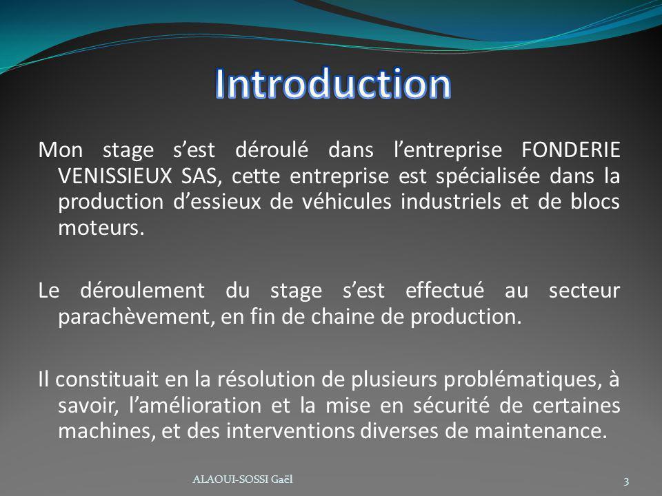Mon stage sest déroulé dans lentreprise FONDERIE VENISSIEUX SAS, cette entreprise est spécialisée dans la production dessieux de véhicules industriels