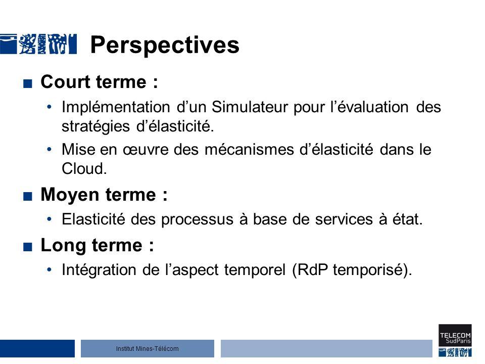 Institut Mines-Télécom Perspectives Court terme : Implémentation dun Simulateur pour lévaluation des stratégies délasticité.