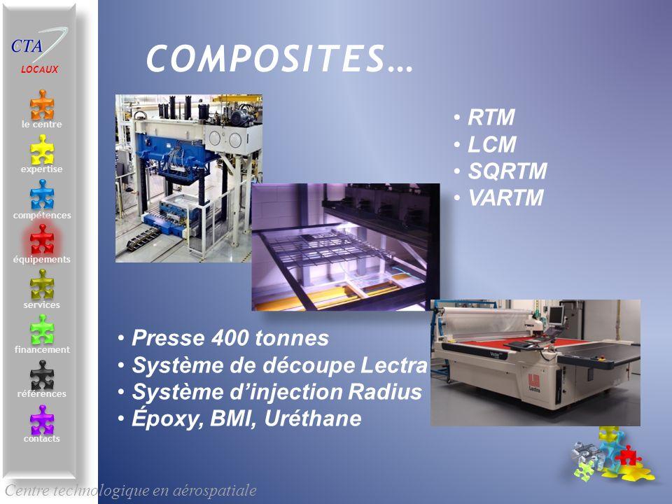 RTM LCM SQRTM VARTM Centre technologique en aérospatiale le centre contacts services compétences équipements références expertise financement COMPOSIT