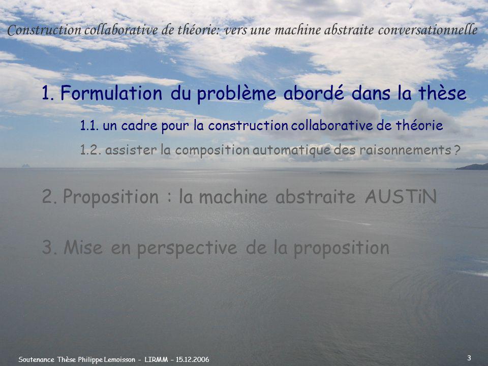 Soutenance Thèse Philippe Lemoisson - LIRMM – 15.12.2006 4 Climat : flux et stocks de CARBONE unités : GigaTonne (GT); GT/an source : IPPC 1995 extrait de : Lavenir climatique Jean-Marc Jancovici