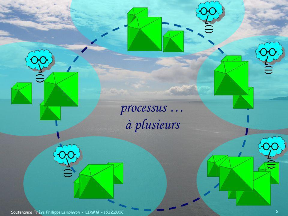 Soutenance Thèse Philippe Lemoisson - LIRMM – 15.12.2006 6 processus … à plusieurs (|)