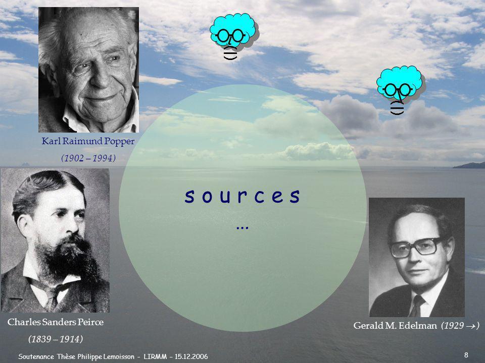 Soutenance Thèse Philippe Lemoisson - LIRMM – 15.12.2006 8 (|) s o u r c e s … () Gerald M.