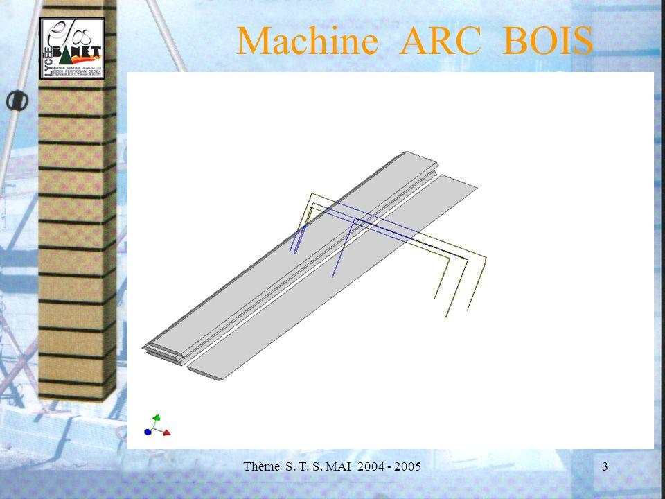 Thème S. T. S. MAI 2004 - 20054 Machine ARC BOIS