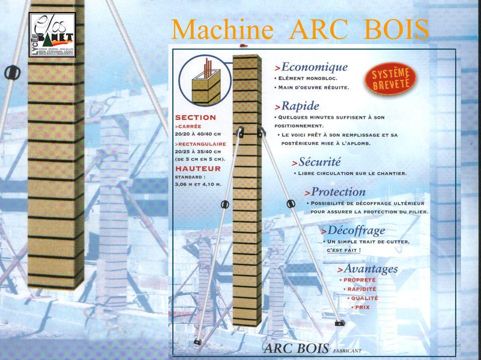 Thème S. T. S. MAI 2004 - 200515 Machine ARC BOIS Evacuation et stockeur planches