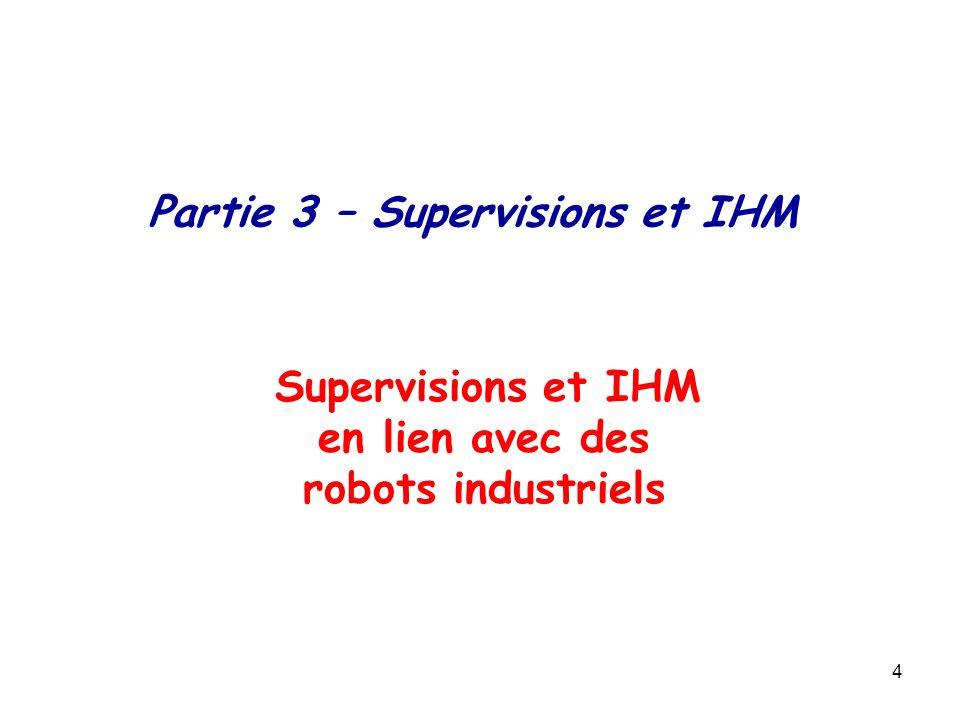 4 Supervisions et IHM en lien avec des robots industriels Partie 3 – Supervisions et IHM