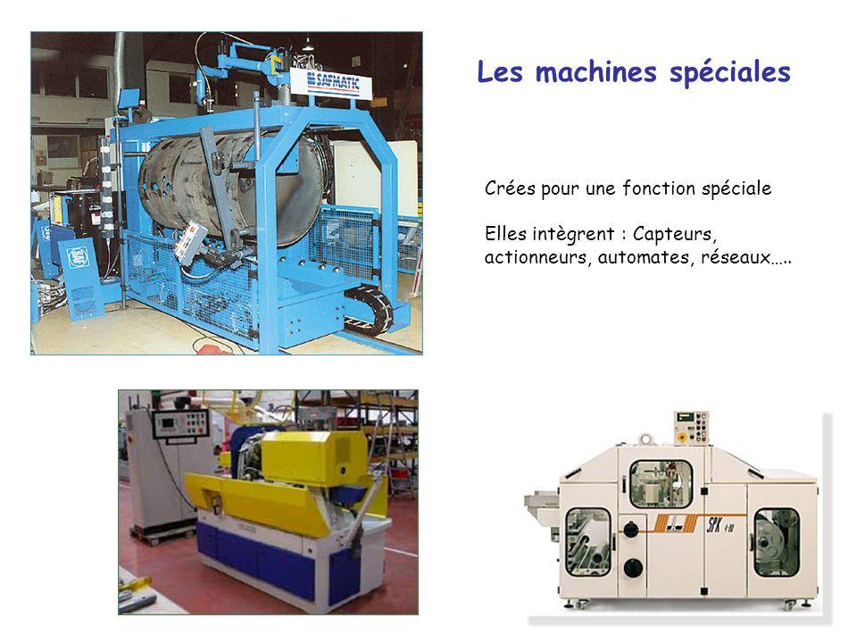 9 Les machines spéciales Crées pour une fonction spéciale Elles intègrent : Capteurs, actionneurs, automates, réseaux…..