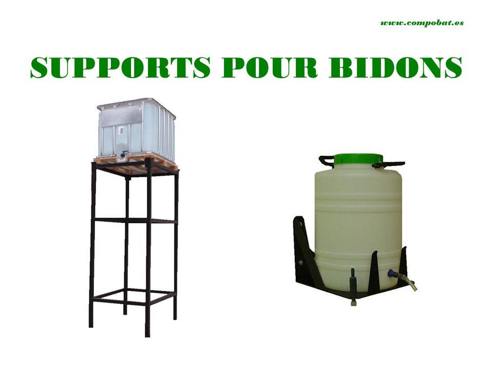 www.compobat.es SUPPORTS POUR BIDONS