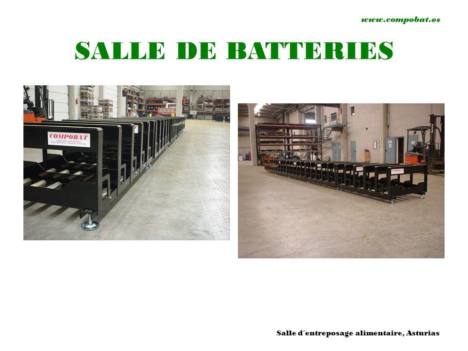www.compobat.es SALLE DE BATTERIES Salle d´entreposage alimentaire, Asturias