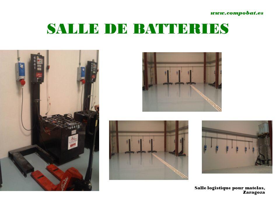 www.compobat.es SALLE DE BATTERIES Salle logistique pour matelas, Zaragoza